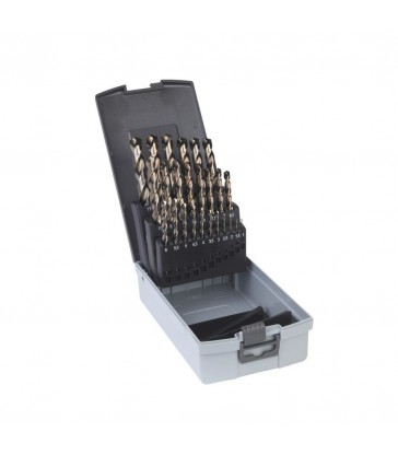 Set Punte HSS-Co per metallo al cobalto DIN 338 25 pezzi