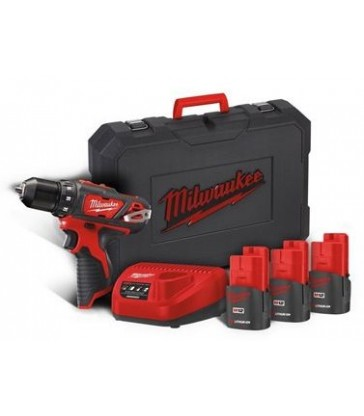 TRAPANo AVVITATORE 12V CON 3 BATTERIE MILWAUKEE