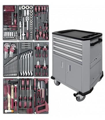 Carrello porta utensili a 4 cassetti e 2 sportelli GRIGIO