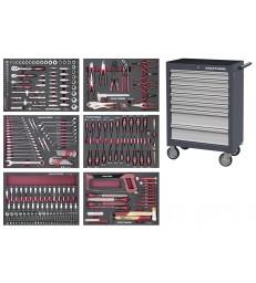 Carrello da officina B107 a 7 cassetti attrezzato 304 pezzi Kraftwerk