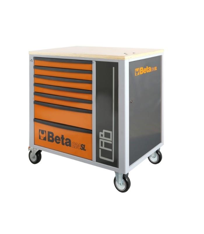 Cassettiera Con 7 Cassetti.Cassettiera Mobile Con 7 Cassetti E Armadietto Porta Oggetti Beta C24sl Cab