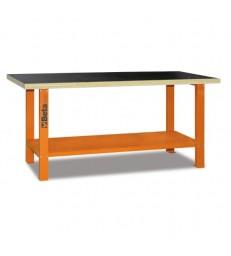Banco da lavoro con piano in legno 2 metri  Arancione C56B