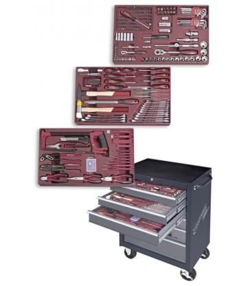 Carrello da officine a 6 cassetti con 335 pezzi Kraftwerk 1096