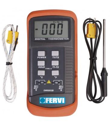 Misuratore di temperatura digitale portatile fervi T063