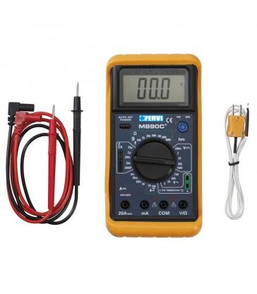 Multimetro digitale con misuratore di temperatura Fervi T050