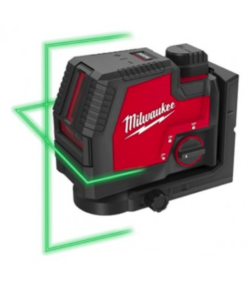 LASER VERDE RICARICABILE USB A 2 LINEE E PIOMBO L4 CLLP-301C MILWAUKEE