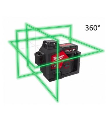 LASER VERDE M12™ A 3 LINEE 360° MILWAUKEE M12 3PL-401C