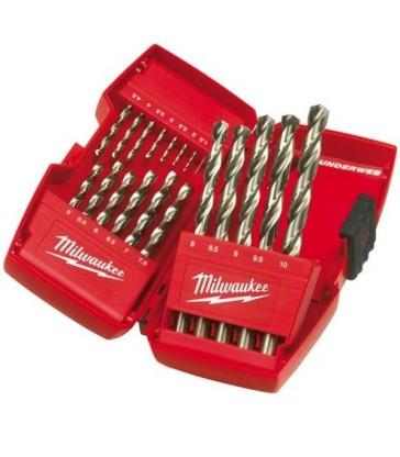 Cassetta Punte metallo Milwaukee THUNDERWEB HSS-G-DIN 338 19 pz