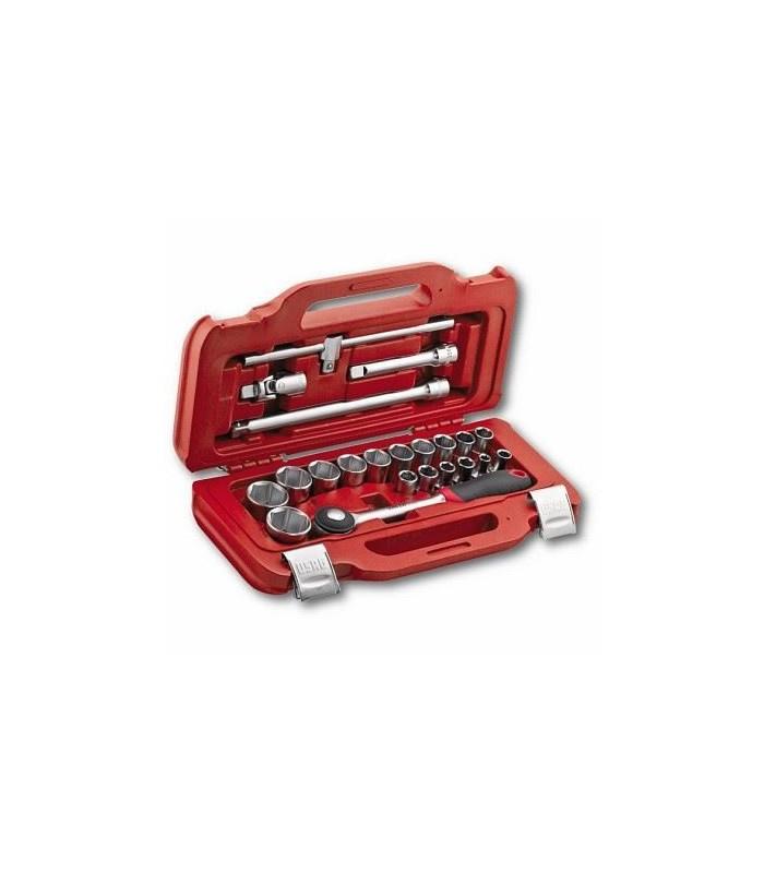 Assortimento in cassetta modulare con bussole esagonali (22 pz) USAG 601 1/2 J22