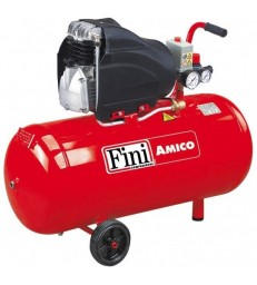 Compressore monofase 50 litri 8 Bar 2 Hp Fini Amico 50/2400