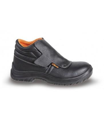 scarpe alte stringate in pelle idrorepellente con rapido sfilamento e protezione frontale con chiusura a strappo BETA 7245B